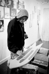 Corey painting | photo: Springbreak Snowboards