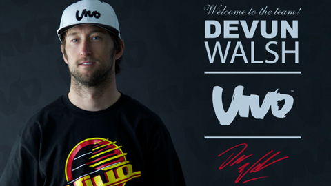 Devun Walsh with Vivo Headwear