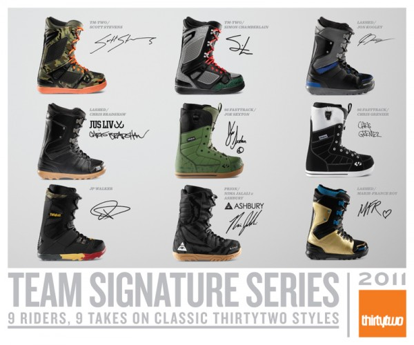 ThirtyTwo releases 9 signature boots