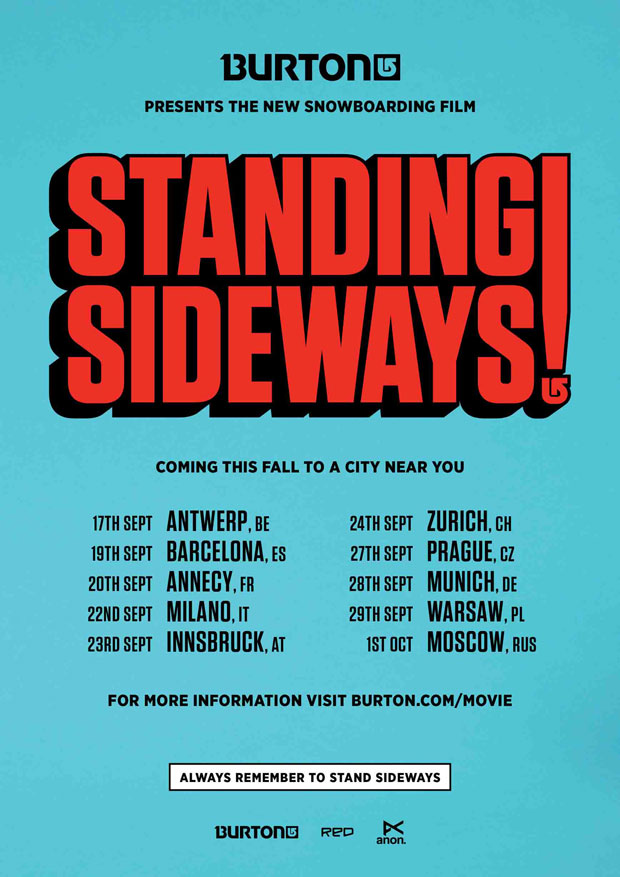 Burton's Standing Sideways | priiere tour!
