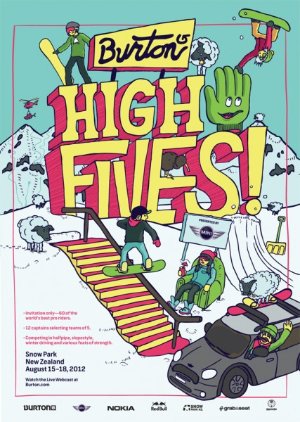 "Burton presents NZ ""High Fives"" competition"