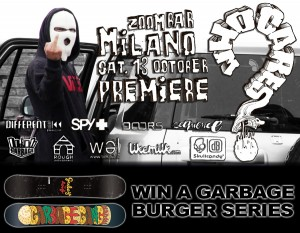 Garbage Gang Who Cares? World Premiere Milan Flyer